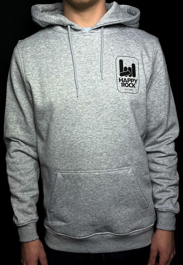 HAPPY ROCK HOODIE GREY LIMITED